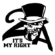 2 Amendment Skull Die Cut Vinyl Decal PV1083