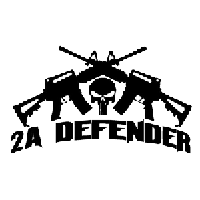 2nd Amendment Defender Die Cut Vinyl Decal PV1860