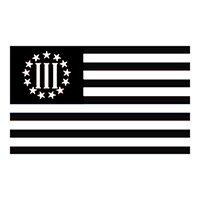 3 Percent Flag Die Cut Vinyl Decal PV2441