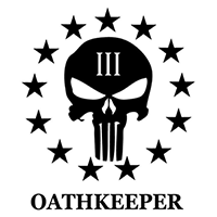 3 Percent Oath Keepers Die Cut Vinyl Decal PV2447