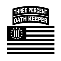 3 percent Oath Keepers Die Cut Vinyl Decal PV2439