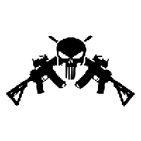 AR15 M4 Punisher Die Cut Vinyl Decal PV1846
