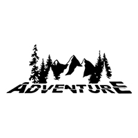 Adventure Die Cut Vinyl Decal PV2314