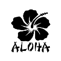 Aloha Die Cut Vinyl Decal PV564