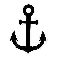 Anchor Die Cut Vinyl Decal PV1339