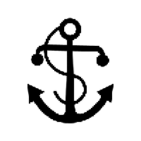 Anchor Die Cut Vinyl Decal PV550