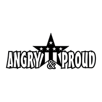 Angry and Proud Die Cut Vinyl Decal PV1402