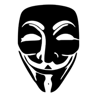 Anonymous Guy Fawkes Mask Die Cut Vinyl Decal PV1904