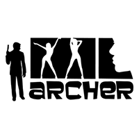 Archer Die Cut Vinyl Decal PV2125