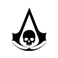 Assassins Creed Black Flag Die Cut Vinyl Decal PV600