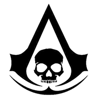 Assassins Creed Black Flag Die Cut Vinyl Decal PV601