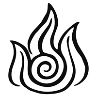 Avatar Fire Nation Symbol Die Cut Vinyl Decal PV1910