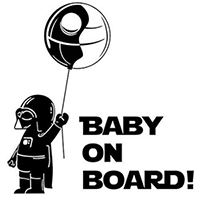Baby on Board Die Cut Vinyl Decal PV2248