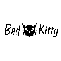 Bad Kitty Die Cut Vinyl Decal PV1890