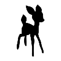 Bambi Die Cut Vinyl Decal PV768