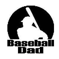 Baseball Dad Die Cut Vinyl Decal PV457