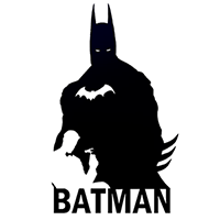 Batman Die Cut Vinyl Decal PV1423