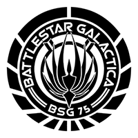 Battlestar Galactica Die Cut Vinyl Decal PV2055