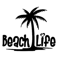Beach Life Die Cut Vinyl Decal PV2311