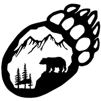 Bear Claw Die Cut Vinyl Decal PV2280