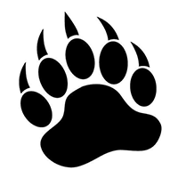 Bear Paw Die Cut Vinyl Decal PV295
