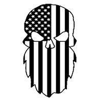 Beard Flag Die Cut Vinyl Decal PV2312