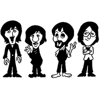 Beatles Die Cut Vinyl Decal PV1148