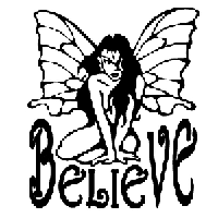 Believe Fairy Die Cut Vinyl Decal PV465