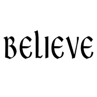 Believe Die Cut Vinyl Decal PV450
