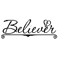 Believer Die Cut Vinyl Decal PV2354