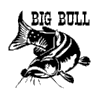 Big Bull Catfish Die Cut Vinyl Decal PV590