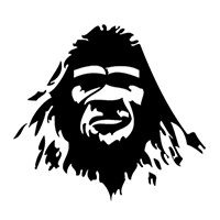 Bigfoot Die Cut Vinyl Decal PV400