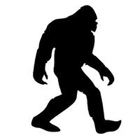 Bigfoot Die Cut Vinyl Decal PV401