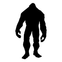 Bigfoot Die Cut Vinyl Decal PV402