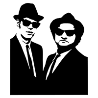 Blues Brothers Die Cut Vinyl Decal PV1923