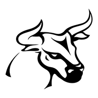 Bull Die Cut Vinyl Decal PV1348