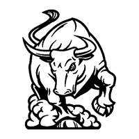 Bull Die Cut Vinyl Decal PV2404