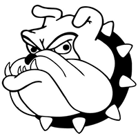 Bull Dog Die Cut Vinyl Decal PV296