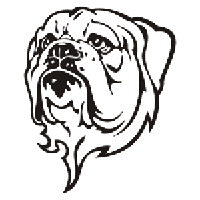 Bulldog Die Cut Vinyl Decal PV1120