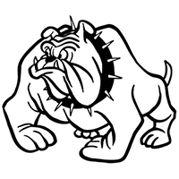 Bull Dog Die Cut Vinyl Decal PV254