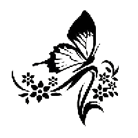 Butterfly Die Cut Vinyl Decal PV579