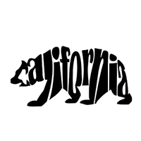 California Bear Die Cut Vinyl Decal PV2309