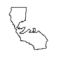 California Die Cut Vinyl Decal PV1070