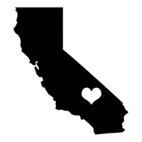 I Love California Die Cut Vinyl Decal PV301