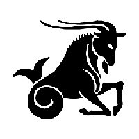 Capricorn Die Cut Vinyl Decal PV1200