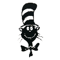 Cat In The Hat Die Cut Vinyl Decal PV1341