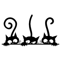 Cats Die Cut Vinyl Decal PV2308