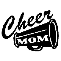 Cheer Mom Die Cut Vinyl Decal PV1092