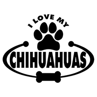 Chihuahuas Paw Bone I Love My Die Cut Vinyl Decal PV2130