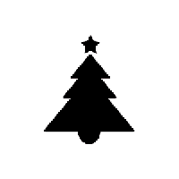 Christmas Tree Die Cut Vinyl Decal PV944